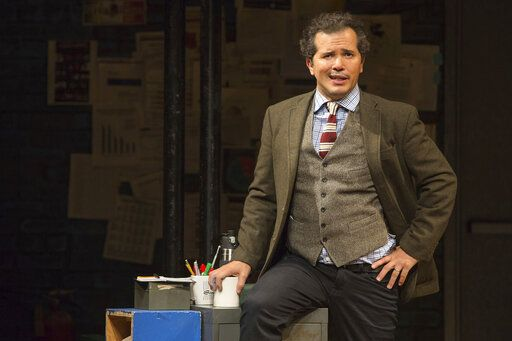 "This image released by Polk & Co. shows John Leguizamo during a performance of his one-man show ""Latin History for Morons."" Leguizamo returns to the Emmy Awards as a nominee for his performance in the Netflix docudrama ""When They See Us."" He is currently in Los Angeles at the Ahmanson Theatre for a six-week run of his Tony-nominated one-man show ""Latin History for Morons,� in which he offers an eye-opening lesson about the participation of Latin Americans throughout U.S. history.  (Matthew Murphy/Polk & Co. via AP)"