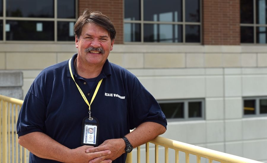 Tim Lyons, a retired Batavia firefighter, has been volunteering at the Kane County jail for about 6 years and is instrumental in bringing Catholic priests to the St. Charles lockup to provide Mass, Bible study and sacraments of reconciliation and Holy Communion to inmates.