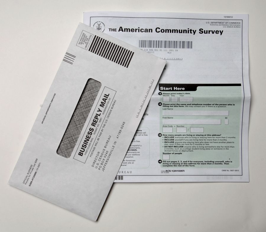 Census forms, like these from 2010, will be mailed to U.S. residents starting in April.