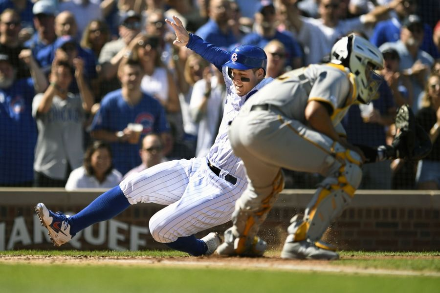 Chicago Cubs first baseman Anthony Rizzo has a moderate sprain of his right ankle, and it's questionable whether he'll return by the end of the regular season.