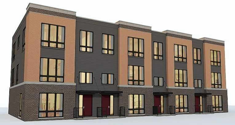 A rendering of one of the row home styles proposed by developer D.R. Horton Inc. for a 260-unit development within the larger Veridian development along Algonquin Road west of Meacham Road in Schaumburg.