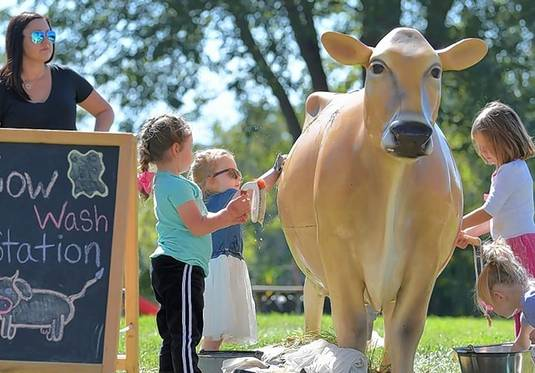 Learn how to care for farm animals, try out a corn cannon, take a wagon ride, and more at the Primrose Farm Frolic on Sunday, Sept. 22, in St. Charles.