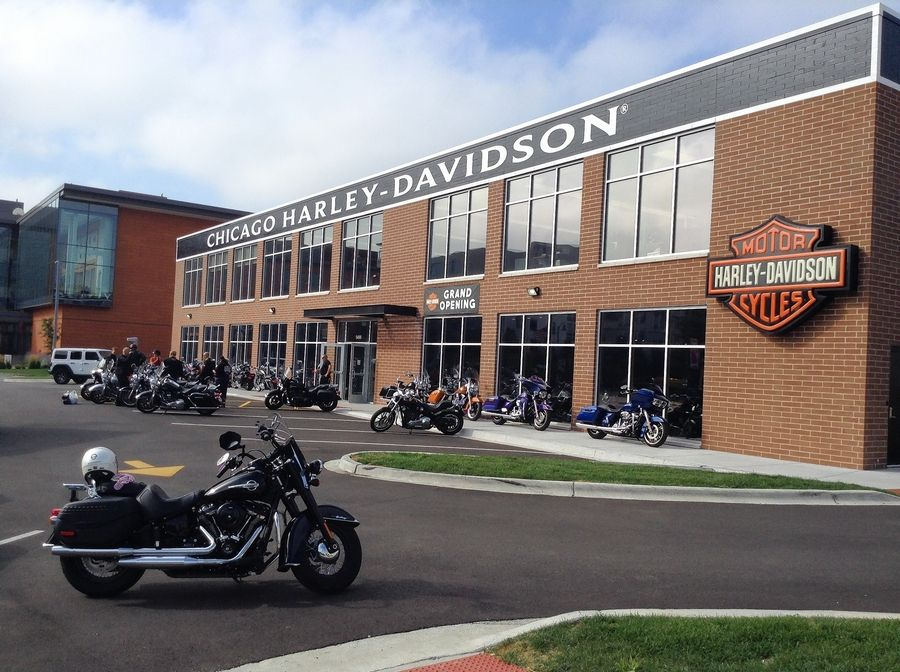 A two-story, 20,000-square-foot Harley-Davidson dealership run by Windy City Motorcycle Co. held its grand opening Tuesday at Parkway Bank Park in Rosemont.