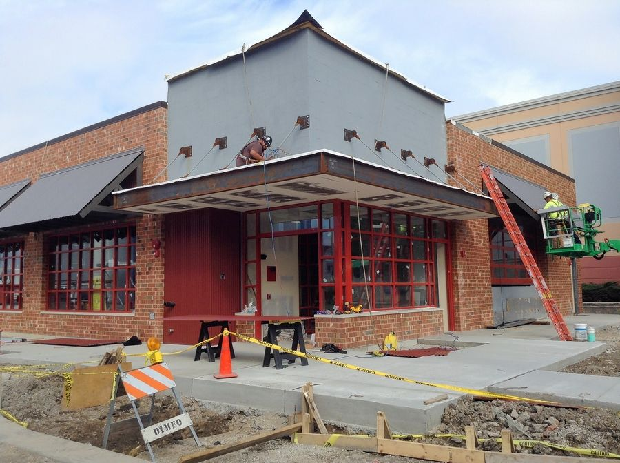 Construction continued this week on the one-story, 6,000-square-foot Pete's Dueling Piano Bar, with a grand opening planned for Oct. 16.