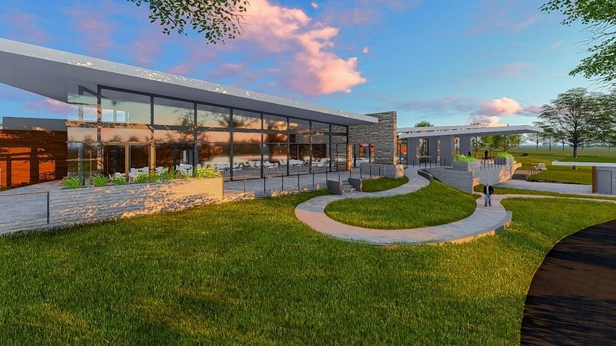 A rendering of the new clubhouse to be built at The Preserve at Oak Meadows in Addison.