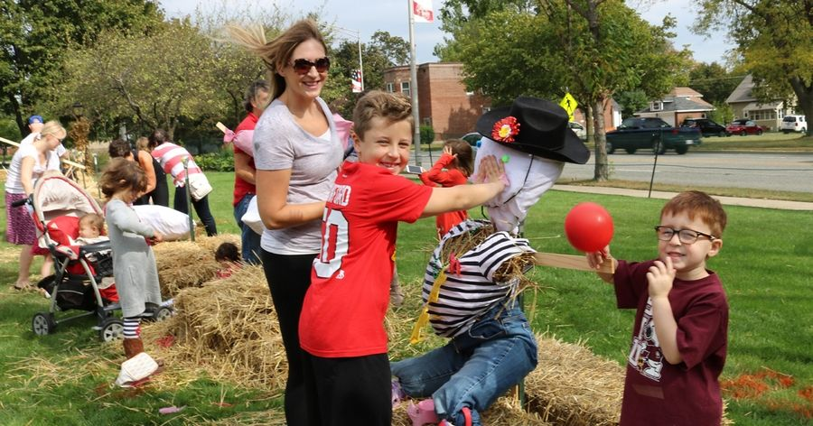 Gather a team of family or friends and build a scarecrow at Autumn Harvest Oct. 5 in Arlington Heights.