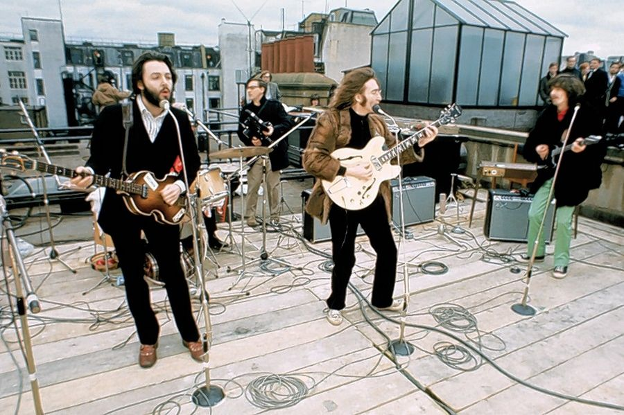 The Beatles' last public concert was an impromptu session on the roof of Apple Studios in London on Jan. 30, 1969.