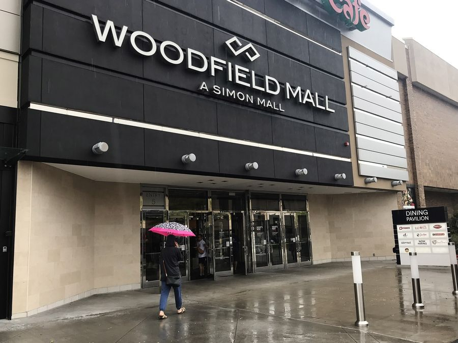 Some entrances to Woodfield Mall in Schaumburg are protected with security barriers that block access to vehicles, but on Friday, an SUV crashed through an entrance at Sears that was not.