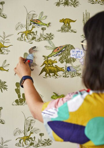 This Aug. 30, 2019 photo released by Veerle Evens shows an interactive wallpaper design by Sian Zeng. Zeng, which took the top prize in the first Etsy Design Awards, announced Tuesday, Sept. 24. The London designer earned a prize of $15,000.  (Veerle Evens/Etsy via AP)