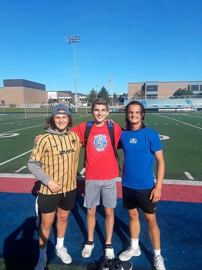 Glenbard South senior soccer players (from left) A.J. Biancalana, Josh Cohen and Ryan Vozza are positively influenced by parents who are coaches.