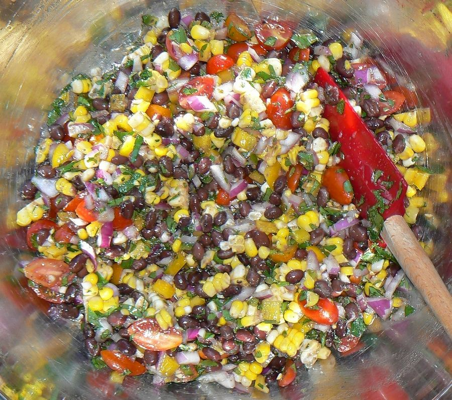 Try this black bean and fresh corn salad before all the corn is gone for the season.