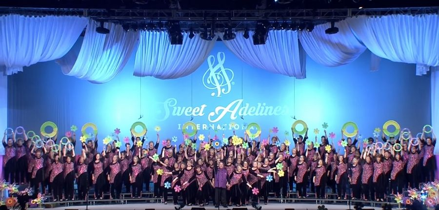 Melodeers Chorus during Good Vibrations during their finals set.Sweet Adelines International