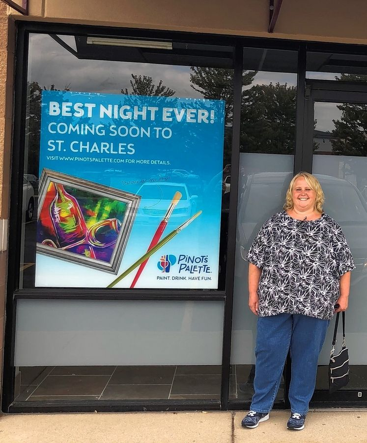 Amy Kumler of Elgin is opening a Pinot's Palette franchise in St. Charles. The paint-and-sip studio at 3823 E. Main St. is expected to open mid-November.