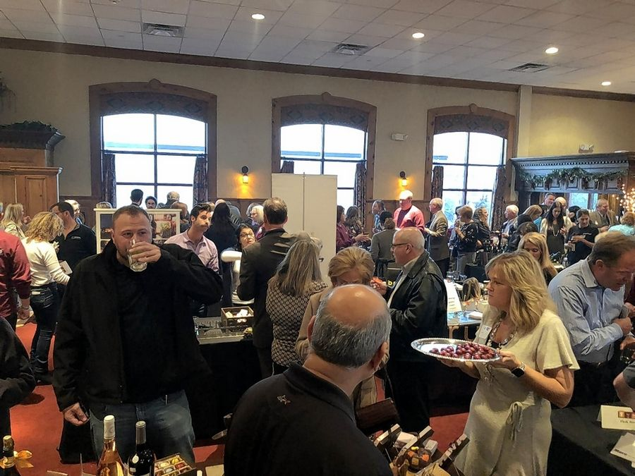 Attendees enjoy food and spirits at the 2018 Barrington Area TasteFest at The Onion Pub & Brewery, 22221 N. Pepper Road, Lake Barrington. Get your tickets now for the 2019 TasteFest scheduled for Oct. 23.