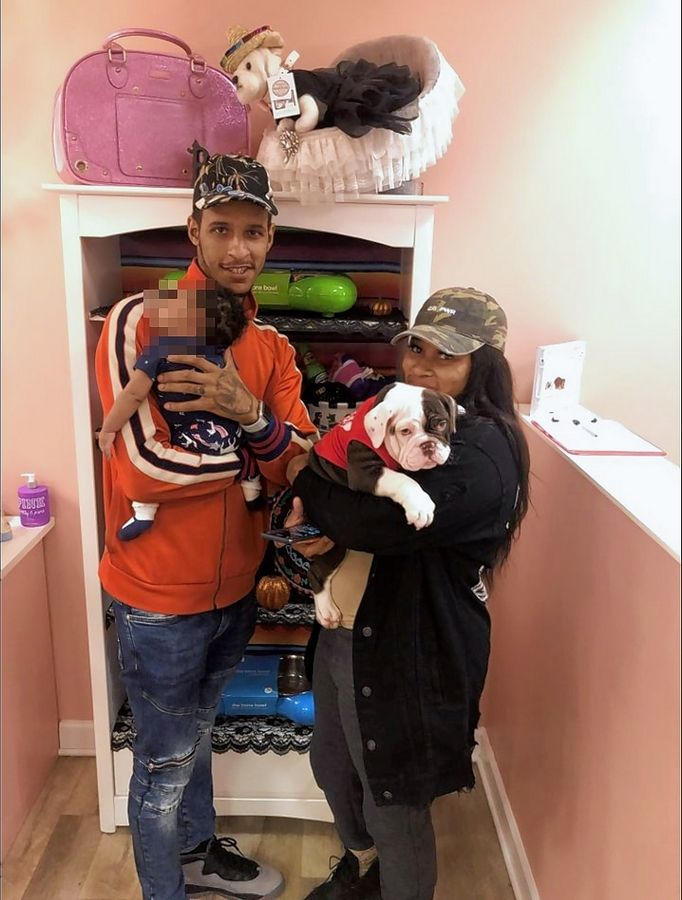 Authorities believe this couple stole an English bulldog puppy from Furry Babies in the Fox Valley Mall. The dog was returned Tuesday unharmed.
