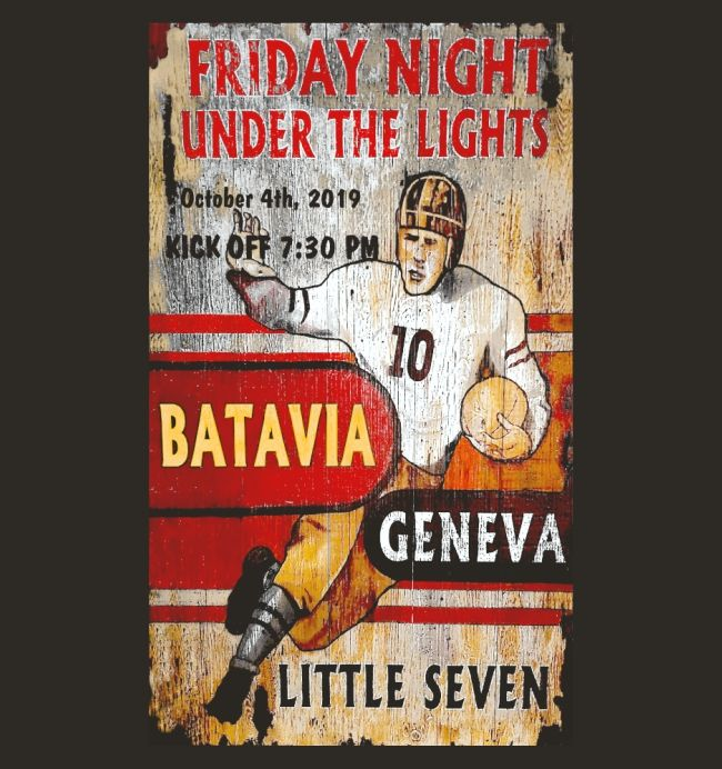 For the 101st crosstown classic game, Geneva and Batavia high school football fans will be wearing competing T-shirts Friday, Oct. 4.
