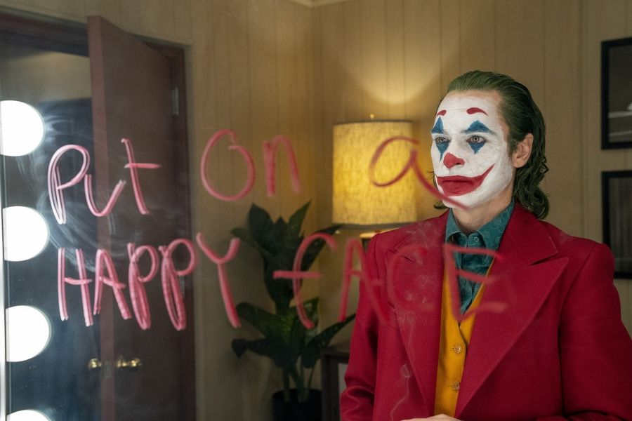 "Arthur Fleck (Joaquin Phoenix) works as a clown but dreams of being a comic in ""Joker."""