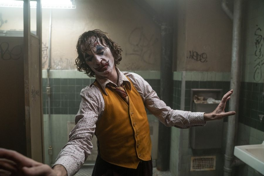 "Arthur Fleck (Joaquin Phoenix) transforms from a crushed soul into Batman's future nemesis in ""Joker."""