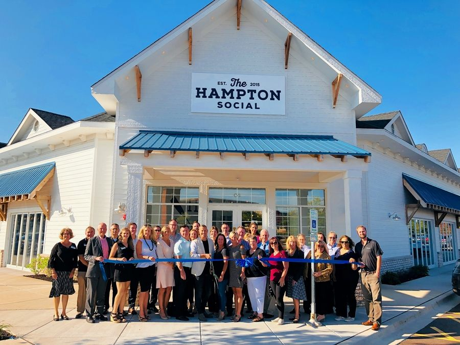 A celebration recently was held to mark the official opening of long-awaited The Hampton Social, an East Coast-inspired seafood restaurant at the Arboretum of South Barrington. Officials from the village, Barrington Area Chamber of Commerce and Arboretum management gathered with The Hampton Social's representatives for a ribbon-cutting ceremony last week.
