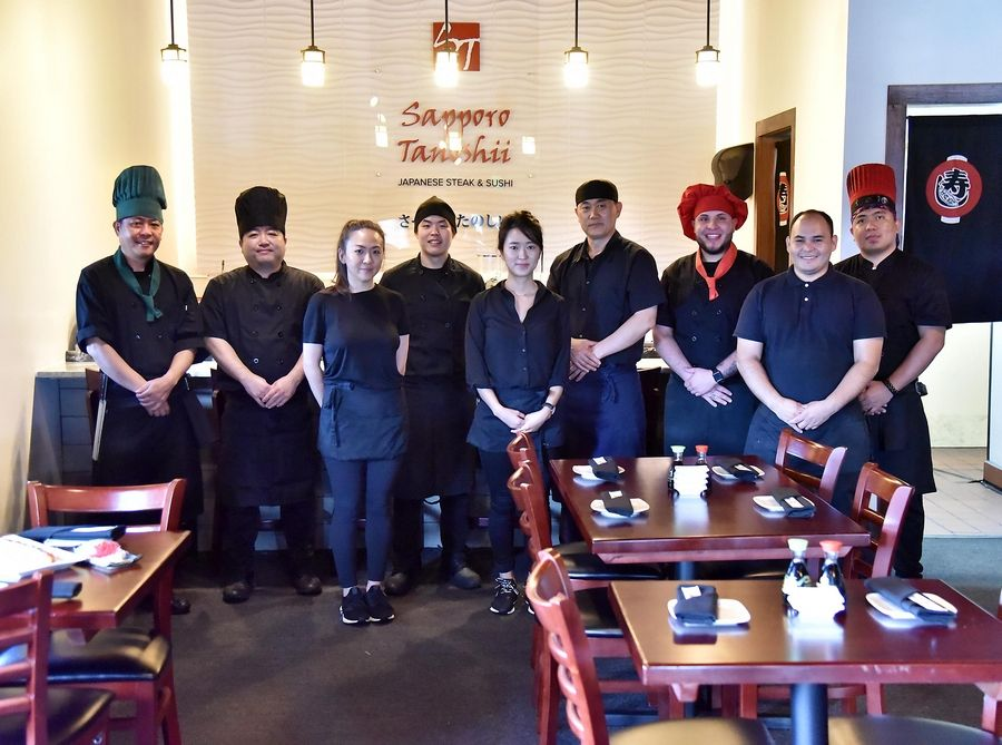 The staff at Sapporo Tanoshii take prides in their jobs at the Algonquin restaurant.