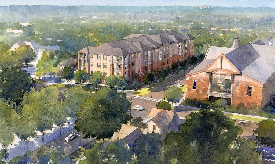 Developers plan to start construction this month on Avere on Duane, a 48-unit, high-end apartment building to the south of the Glen Ellyn Public Library.