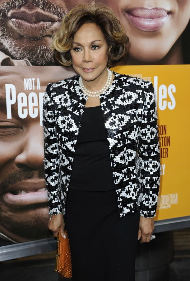 "FILE -- This May 8, 2013 file photo shows Diahann Carroll at the world premiere of ""Peeples"" in Los Angeles. Carroll passed away Friday, Oct. 4, 2019 at her home in Los Angeles after a long bout with cancer. She was 84."