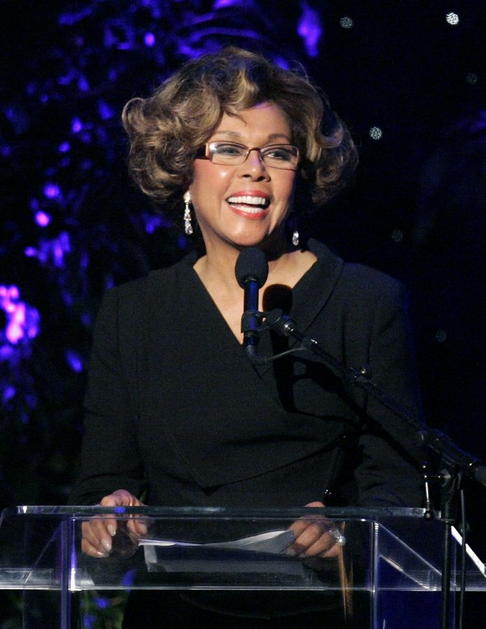 FILE -- This June 14, 2007 file photo shows Diahann Carroll speaking at the 2007 Crystal and Lucy Awards in Beverly Hills, Calif. Carroll died, Friday, Oct. 4, 2019, at her home in Los Angeles after a long bout with cancer. She was 84.