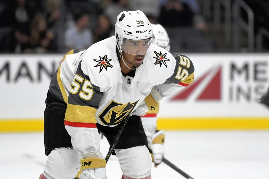 Keegan Kolesar, who played in the preseason for the Vegas Golden Knights and was reassigned to the Wolves Monday, had 20 goals in the regular season and 6 in the playoffs last year.