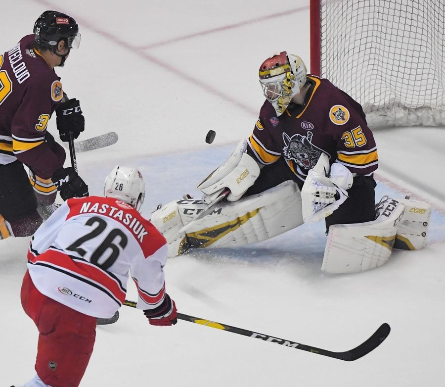 Chicago Wolves goalie Oscar Dansk has had two solid seasons in Chicago with a 40-12-11 record.