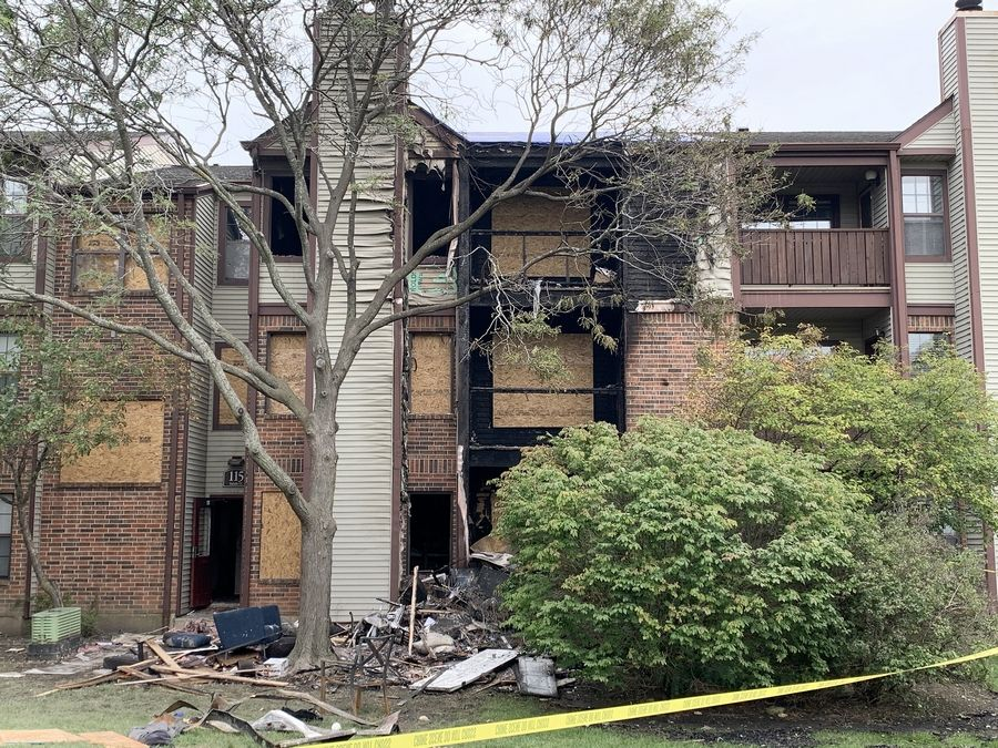 The cause of a fire early Saturday that displaced more than a dozen residents at the Remington Place Apartments in Schaumburg remains under investigation.