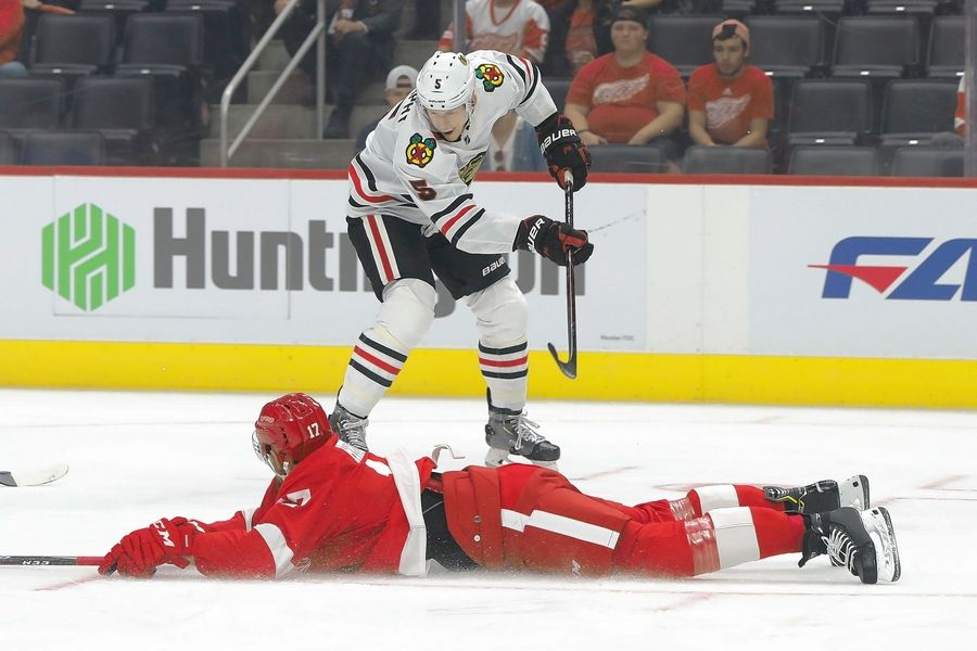 "Chicago Blackhawks defenseman Connor Murphy felt ""really good"" during practice at Fifth Third Arena on Monday and hopes to be able to play in the home opener against San Jose on Thursday."