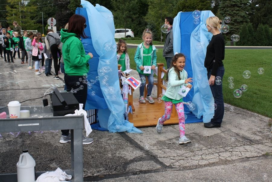 "Students explore ""Niagara Falls"" during Walk for Westbrook on Oct. 3."