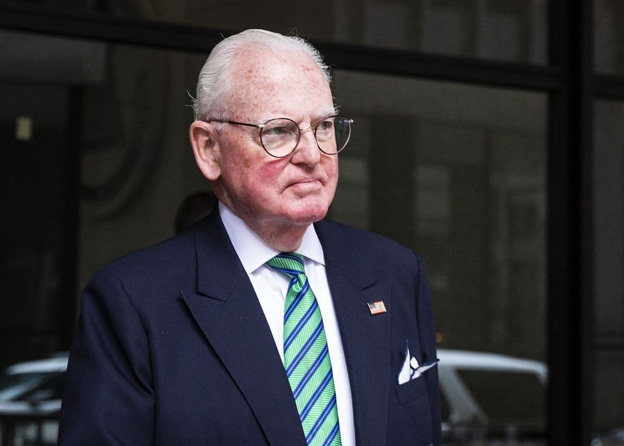 Chicago Alderman Edward M. Burke walks out of the Dirksen Federal Courthouse on June 4. Burke has pleaded not guilty to federal corruption charges.