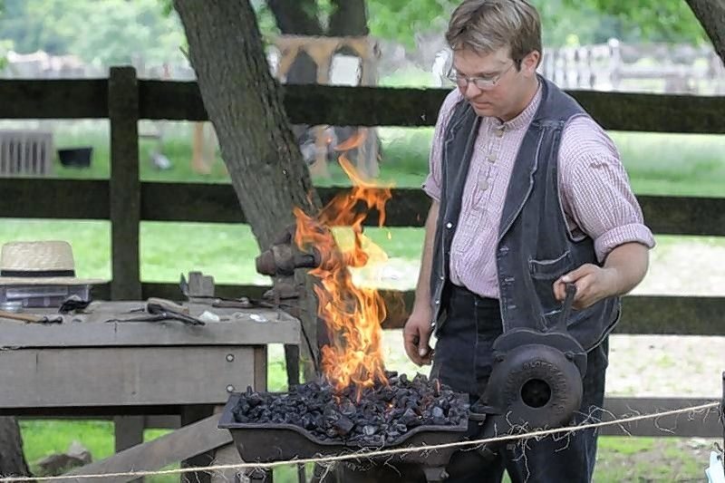 On Saturday, Oct. 12, Garfield Farm Museum staff member Joseph Coleman will offer a history of blacksmithing with a lecture and demonstration.