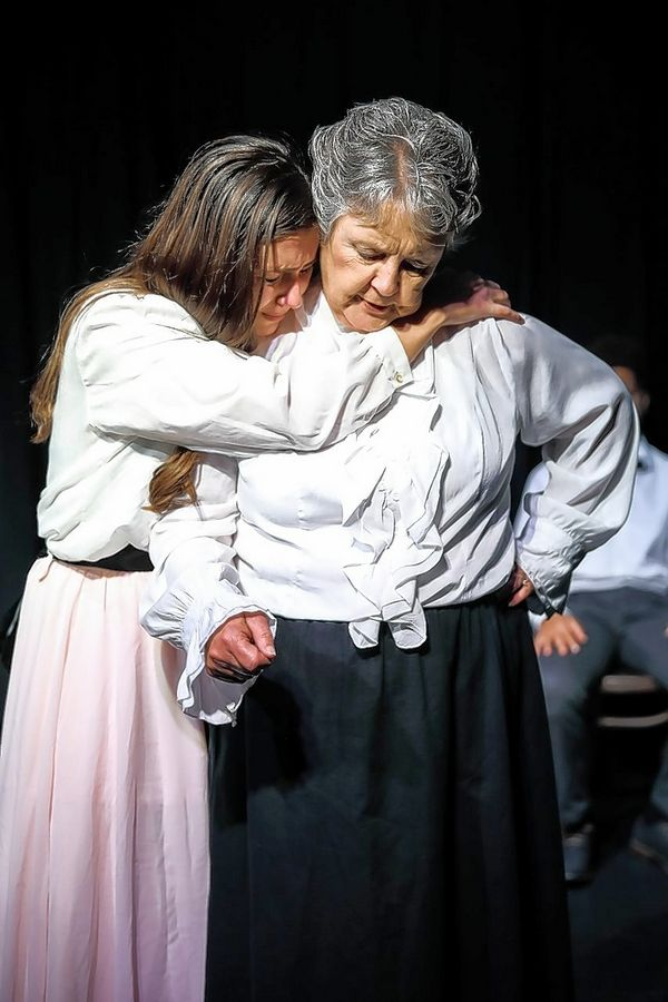 "Elise Delap (Emily Webb) and Carolyn Larsen (Mrs. Webb) perform in Kane Repertory Theatre's production of ""Our Town."" Performances continue through Oct. 19 in St. Charles."