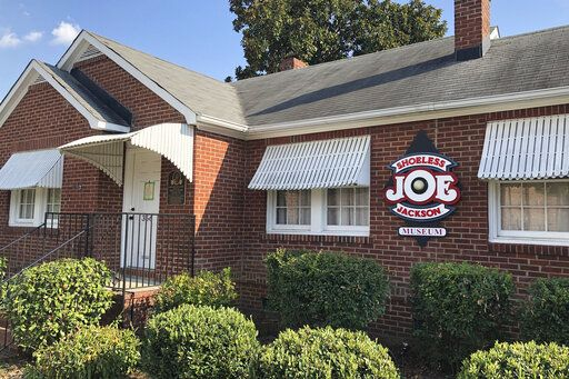 In this Sept. 29, 2019, photo, the Shoeless Joe Jackson Museum is shown in Greenville, S.C.