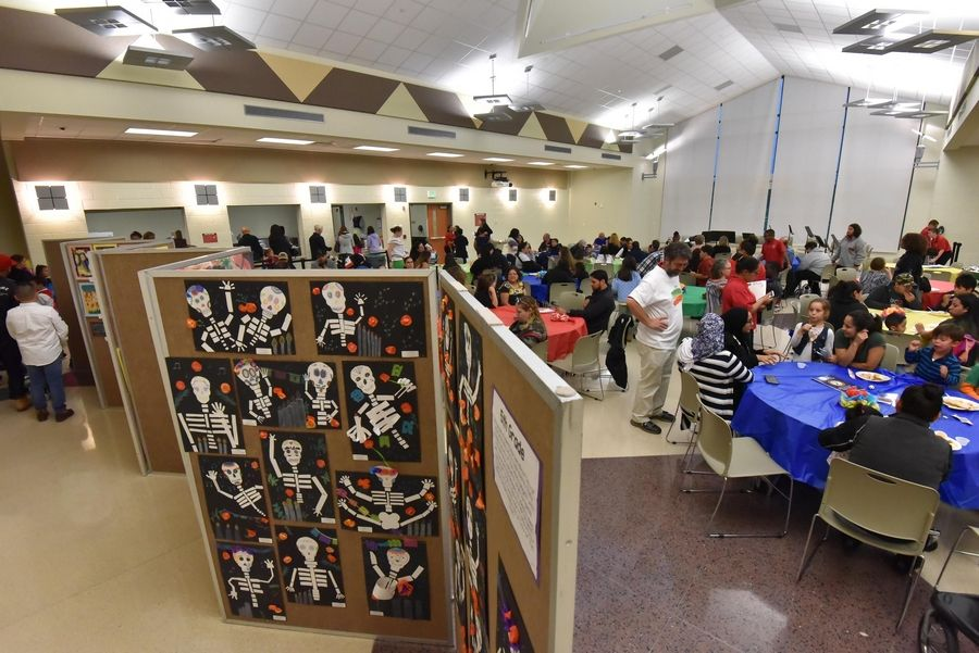 Student artwork was part of Thursday's Hispanic Heritage Celebration at Prairie Trail School in Wadsworth.