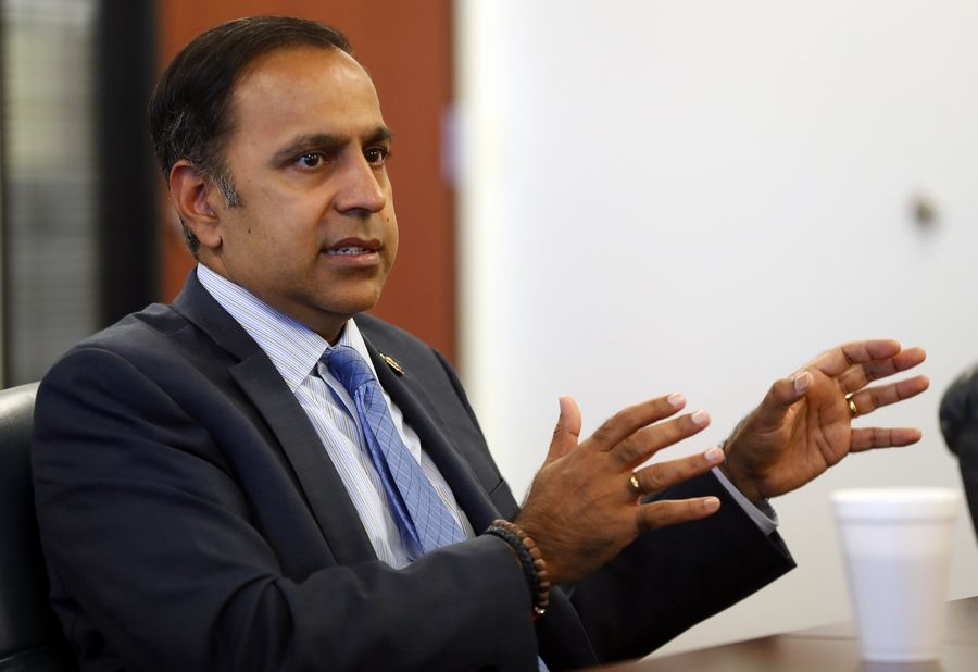 U.S. Rep. Raja Krishnamoorthi discussed President Donald Trump's move to pull U.S. troops from northeast Syria and other topics during a meeting with the Daily Herald Editorial Board in Arlington Heights this week.