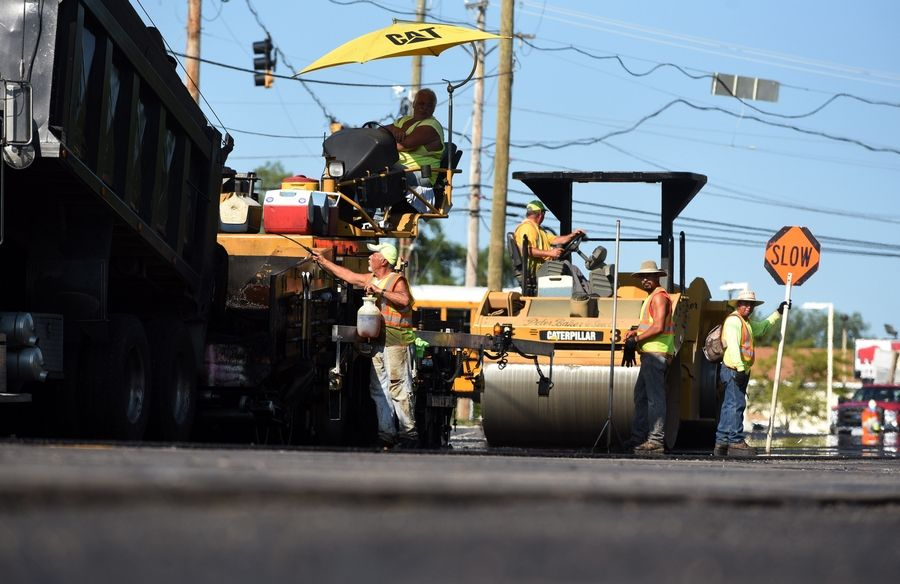 Road resurfacing will be a big-ticket item in Libertyville in coming years. Village officials plan to ask voters in March to determine whether becoming a home rule community would provide flexibility to help pay for these and other projects.