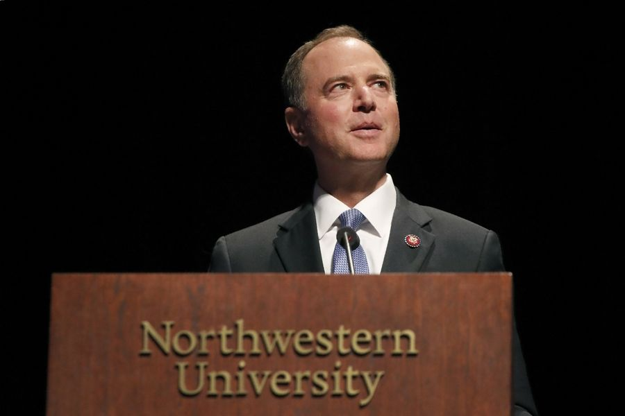 California Congressman Adam Schiff, speaking Oct. 3 at Northwestern University in Evanston, made statements about contact with a whistleblower that were misleading, according to The Washington Post.