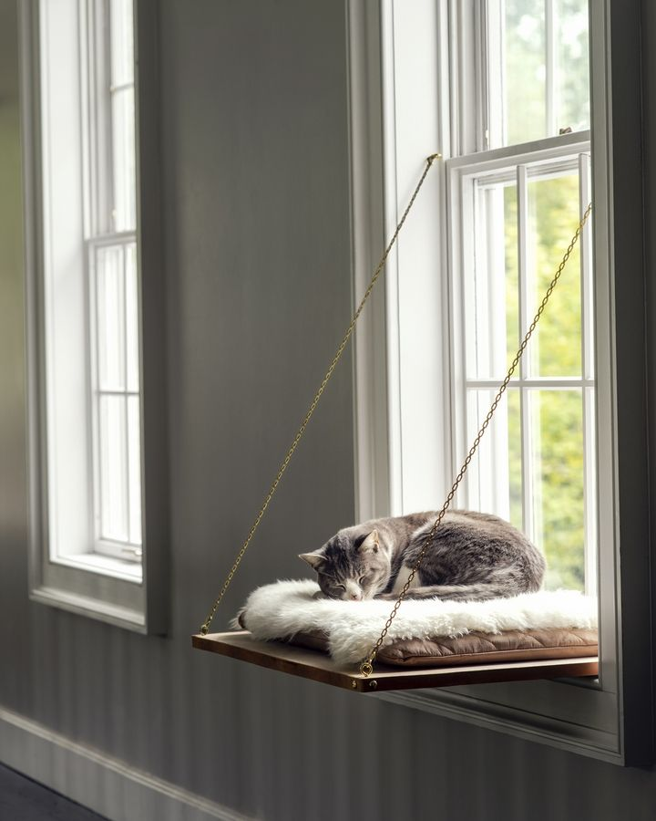 Felines of all kinds will be thankful to have this cozy, custom-built napping perch, ideal for long afternoons basking in the sun. Top it off with a soft cushion or sheepskin and we bet they'll love you even more than they already do.