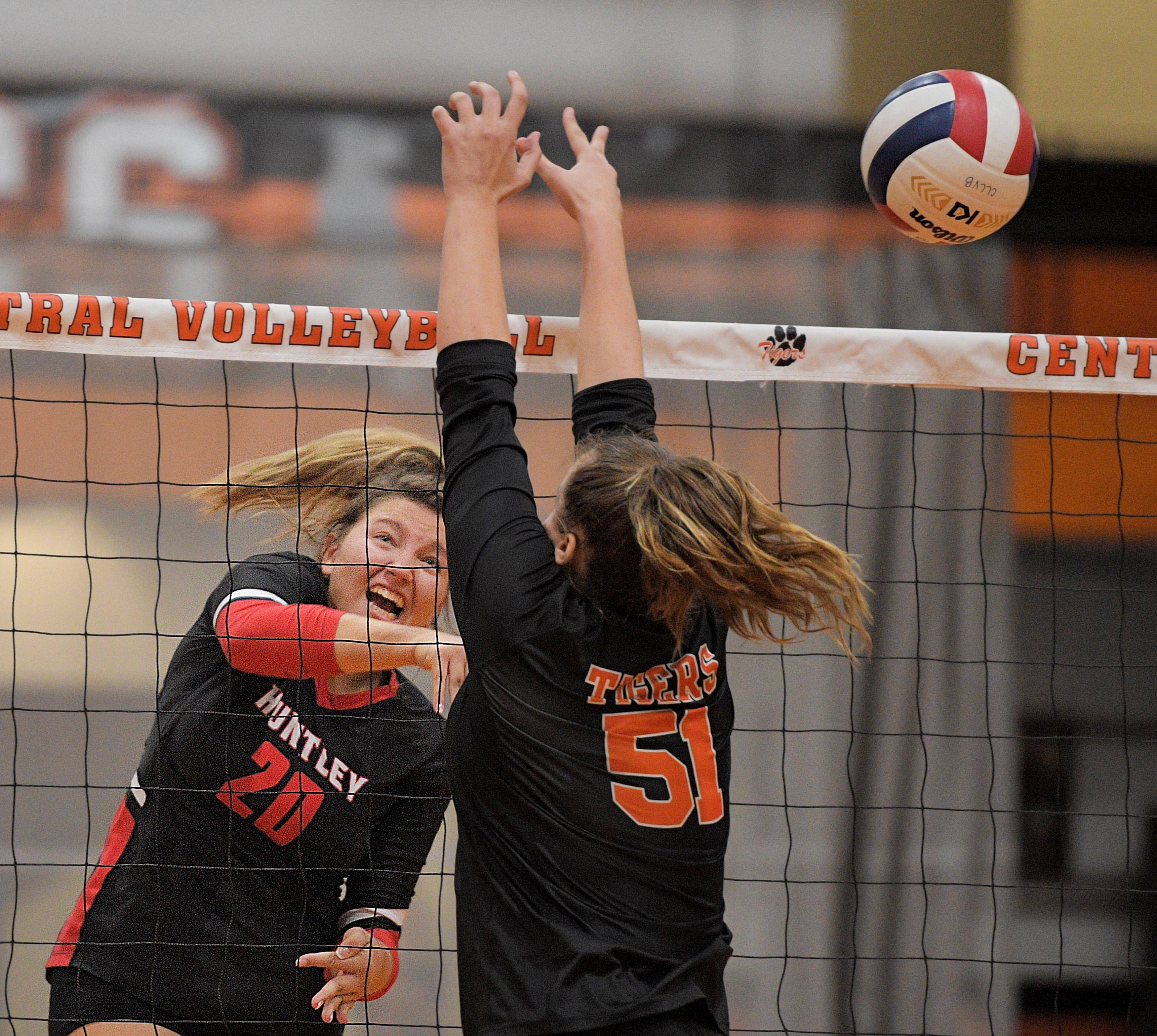 Girls volleyball: Crystal Lake Central hands Huntley 1st FVC loss