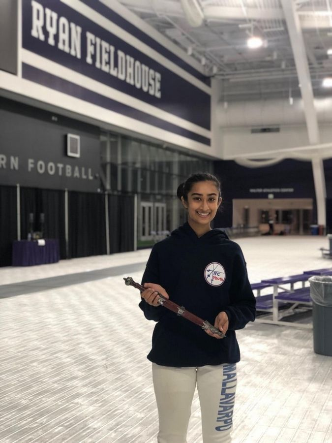 Aarthi Mallavarpu after her third place Junior Women's Epee win at Northwestern University.