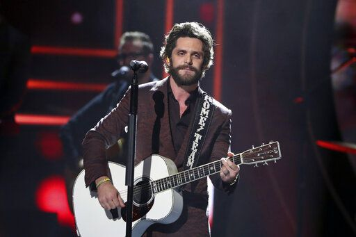 Thomas Rhett performs at 2019 CMT Artists of the Year at Schermerhorn Symphony Center on Wednesday, Oct. 16, 2019, in Nashville, Tenn. (Photo by Al Wagner/Invision/AP)
