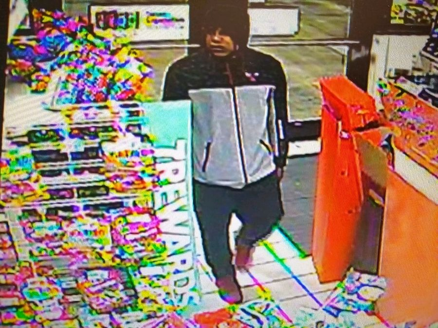 Lake County authorities are seeking this man and another suspect in connection with the armed robbery Tuesday night of a convenience store in Beach Park.