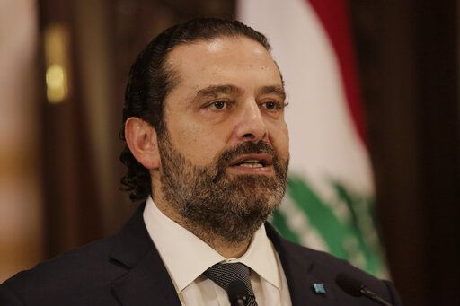 Lebanese Prime Minister Saad Hariri speaks during an address to the nation, in Beirut, Lebanon, Friday, Oct. 18, 2019. Hariri has given his political adversaries a 72-hour ultimatum to back his reform agenda amid growing nationwide protests over country's worsening economic crisis.