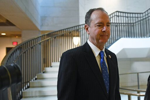House Permanent Select Committee on Intelligence Chairman Rep. Adam Schiff, D-Calif., arrives on Capitol Hill for the interview with U.S. Ambassador to the European Union Gordon Sondland as part of the impeachment inquiry.