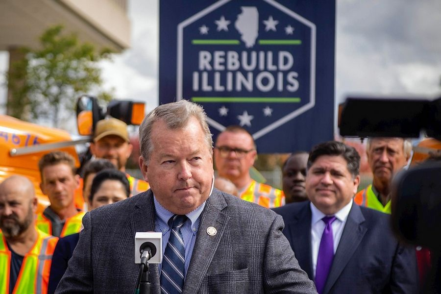 Sen. Donald DeWitte,  a St. Charles Republican, speaks during Monday's announcement in Springfield of road and bridge projects across the state as part of the Rebuild Illinois capital plan. DeWitte was among a team of state senators that traveled the state earlier this year to build support for the  infrastructure bill.