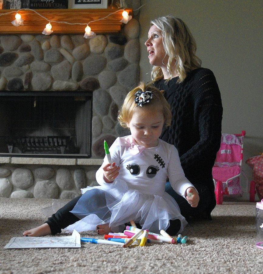 Lauren Backe talks about her daughter Everly, who was born with a congenital heart defect.