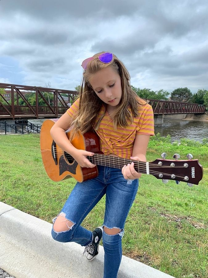 Lily Mamminga, 12, of Batavia is a singer-songwriter who has just released her first EP. She plays piano, clarinet, guitar and ukulele.